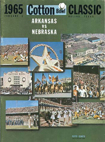 1965 Cotton Bowl Arkansas vs. Nebraska