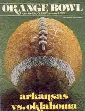 1978 Orange Bowl Arkansas vs. Oklahoma