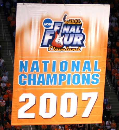 2007 Tennessee Lady Vols National Championship Banner