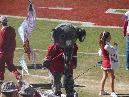 Alabama Crimson Tide Mascot - Red Elephants.