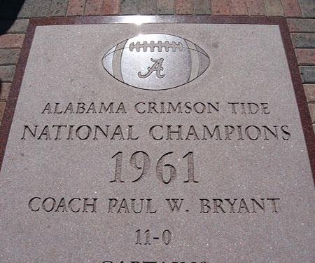 Bryant-Denny Stadium 1961 Walkway Monument