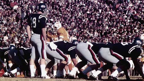 Archie Manning #18 is the Ole Miss quarterback
