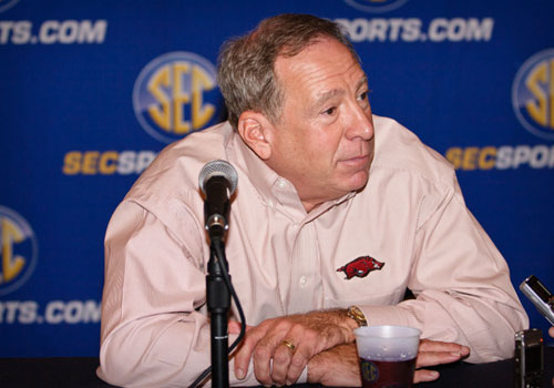Arkansas' coach Tom Collen.