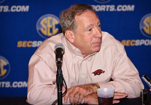 Arkansas' coach Tom Collen.