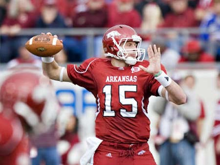 Arkansas Razorback quarterback Ryan Mallett.