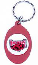 Arkansas Razorbacks Metal Oval Keychains
