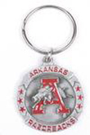 Arkansas Razorbacks Pewter Keychains