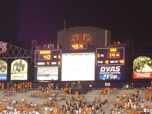 Auburn Football Scoreboard