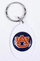 Auburn Tigers Metal Oval Keychains
