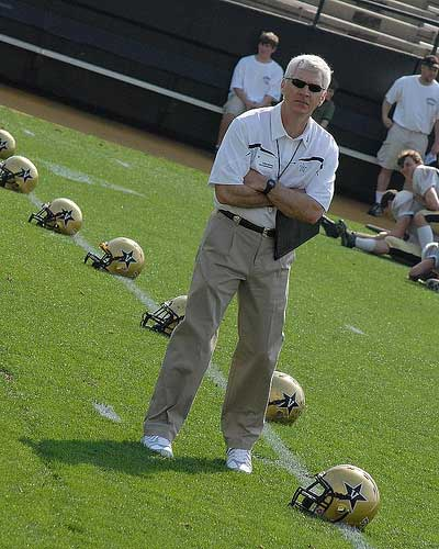 Vanderbilt football coach Bobby Johnson