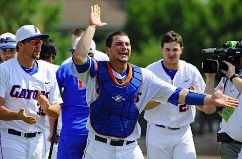 Florida Gators catcher Mike Zunino