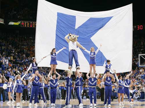 UK's college basketball cheerleaders