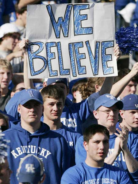 Kentucky Football Fans Believe