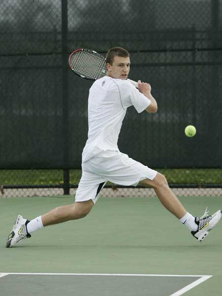 College Tennis Backhand