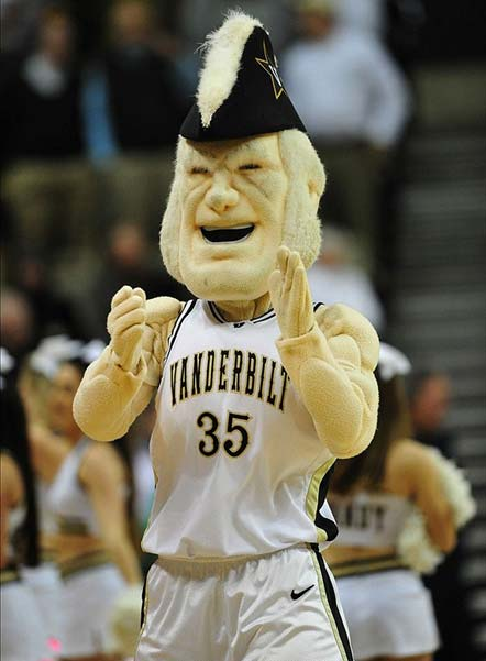 The Vanderbilt Commodores Mascot Performs