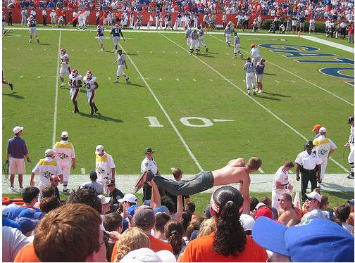 Crazy Florida Gator Football Fan