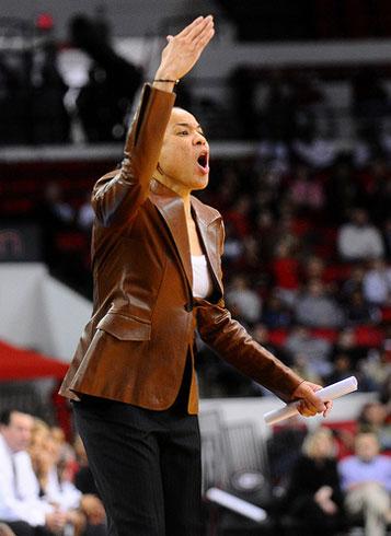South Carolina coach Dawn Staley.