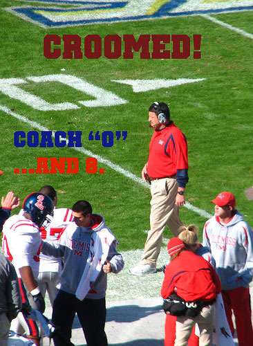 Ole Miss Coach Ed Orgeron before 2007 loss to Miss. State in the Egg Bowl
