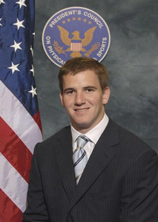 Eli Manning, in 2007 for The President's Council