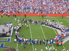 florida gators fans celebrate