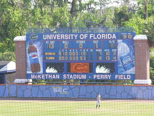 Florida Gators baseball scoreboard