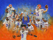 Florida Gators Champions 2008 Painting