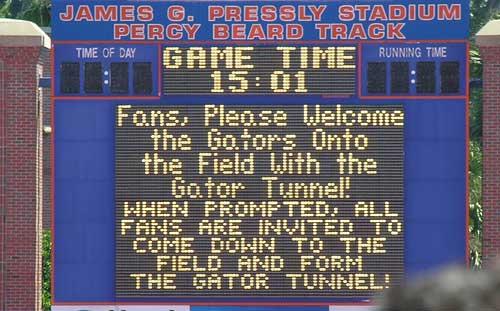 Florida's soccer scoreboard