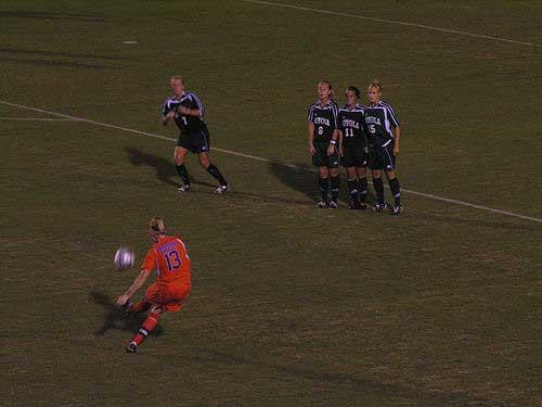 Gator soccer free kick