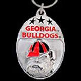 Georgia Bulldogs pewter keychains