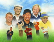 Golf Legends Painting