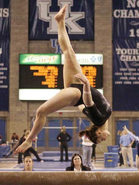 Kentucky Gymnast Balance Beam Flip