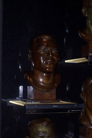 Jim Brown's Bust in the NFL Hall of Fame