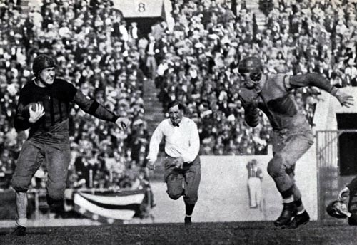 Johnny Mack scoring touchdown in 1926 Rose Bowl.