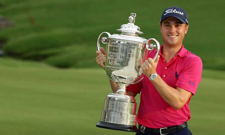 Justin Thomas young American in the US PGA Championship