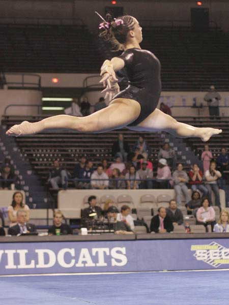 kentucky wildcat gymnast soars through air