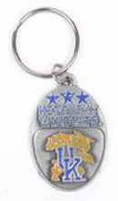Kentucky Wildcats pewter keychains