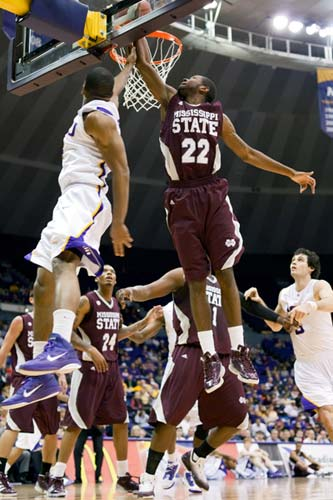 LSU Tigers guard Chris Bass