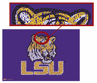 LSU Tigers Fight Song Poster