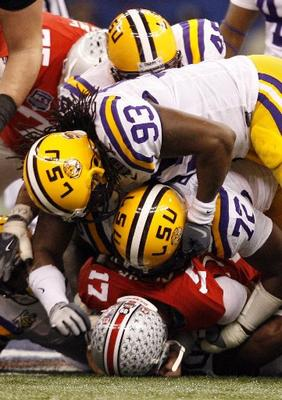 LSU Defense Crushes Ohio State QB Todd Boeckmann