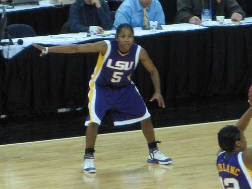LSU Lady Tigers basketball player Erica White