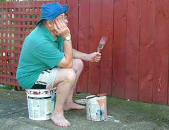 Man Watching Paint Dry