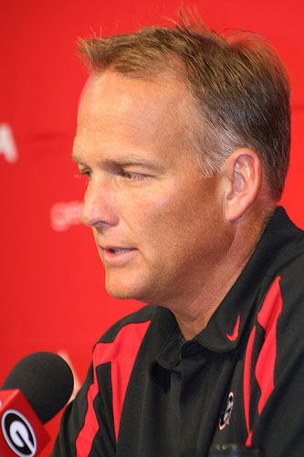 Mark Richt at press conference.