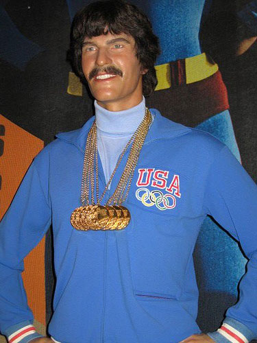 Mark Spitz' image at Madame Tussauds