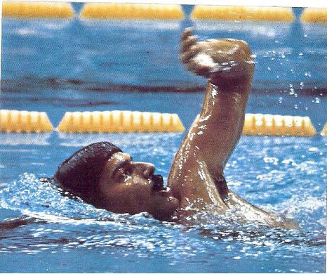 Mark Spitz at the 1972 Olympics in Munich, Germany