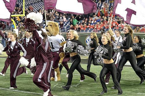 Mississippi Cheerleader Running