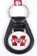 Mississippi State leather keychains