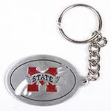 Mississippi State pewter keychains