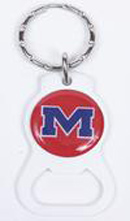 Ole Miss Rebels bottle opener keychains
