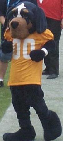 The costumed Smokey Mascot.