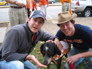 Smokey With Vols Fans